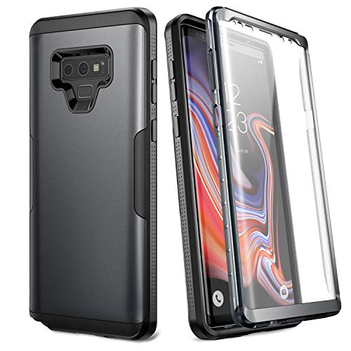 YOUMAKER Case for Galaxy Note 9, Full Body Heavy Duty Protection with Built-in Screen Protector Shockproof Rugged Cover for Samsung Galaxy Note 9 (2018) 6.4 Inch - Black/BK
