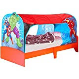 Worlds Apart Marvel Avengers Kids Single Over Bed Fabric Tent by HelloHome - Captain America, Hulk and Iron Man