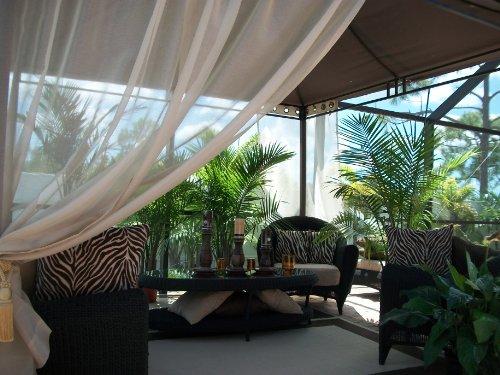 Patio Pizazz Wow! Beautiful Indoor/Outdoor Gazebo Patio Drapes.. Sand.. Sheer .. 50