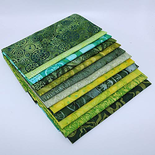 Island Batik Green 12 Fat Quarters