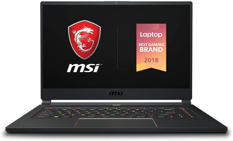 "MSI GS65 Stealth-483 15.6"" Gaming Laptop, 240Hz Display, Thin Bezel, Intel Core i7-9750H, NVIDIA GeForce RTX2060, 16GB, 512GB NVMe SSD, Thunderbolt 3"