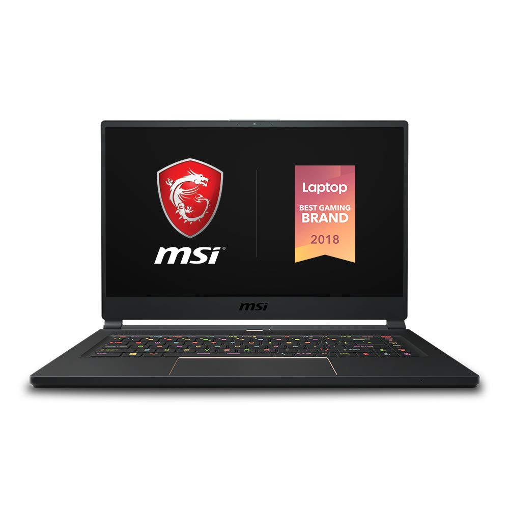 "MSI GS65 Stealth-002 15.6"" Razor Thin Bezel Gaming Laptop NVIDIA RTX 2070 8G Max-Q, 144Hz 7ms, Intel i7-8750H (6 cores), 32GB, 512GB NVMe SSD, TB3, Per Key RGB, Win 10, Matte Black w/ Gold Diamond cut"