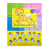 Baby : Adorox Baby Shower Party Game (Pin the Bottle or Pacifier on the Baby) Poster (1pkg) (Pin the Bottle (1 pk))
