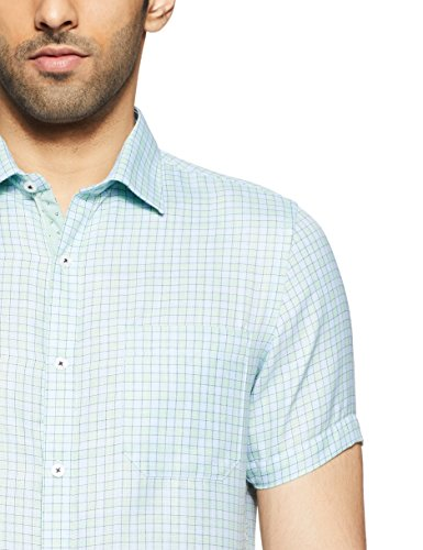 Excalibur by Unlimited Men's Checkered Slim Fit Formal Shirt