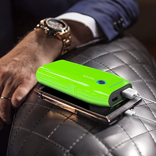 Villain moveable vitality Bank Battery Charger 5000mAh original LG Battery Cells Extra lightweight 120g having in size Pocket Size speedy Charging at 21 A LED Indicator Ergonomic type Green Wall Chargers