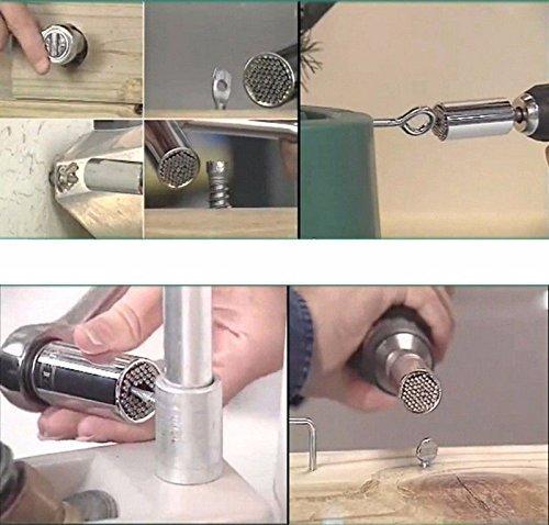 Stecknuss-Adapter professionelle Reparatur selbstjustierend omufipw Multifunktions-Ratsche 7-19 mm Magic Maulschl/üssel Grip