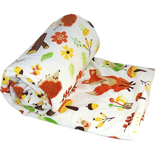 Wood Squirrel - Home Soft Things Printed Micro Plush Throw For the Bundle of Joy, 50
