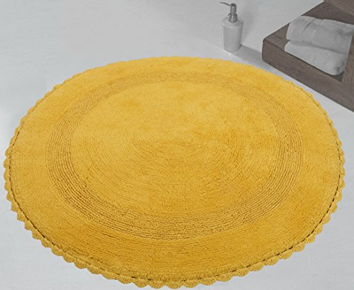 Saffron Fabs 36 Inch Round Bath Rug Pattern Crochet Lace