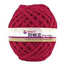 Papardelle Sassy Fabric Tshirt Yarn (Weaved cotton), Hot Pink