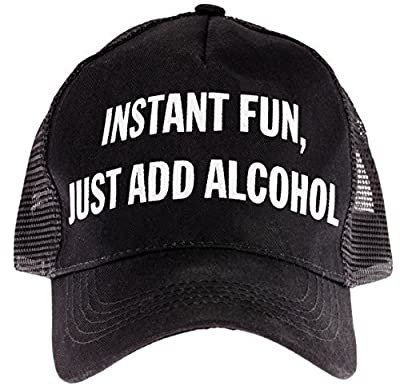 "Snark City's Trucker Cap Hat Adjustable ""Instant Fun, Just Add Alcohol"""