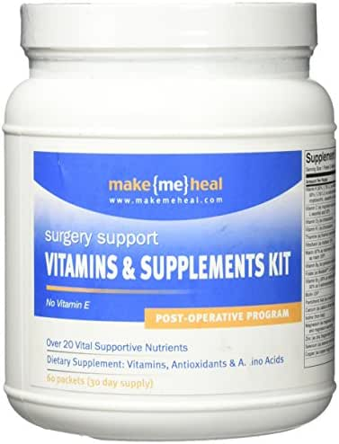 Make Me Heal Surgery Healing Supplements & Vitamins - Post-Op Formula - 30 Day