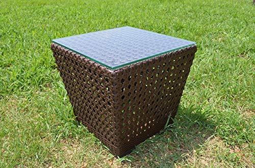 ガーデンファニチャー ラタン調 サイドテーブル 45cm B07H4C12XG