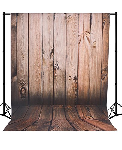 Mehofoto Seamless Vinyl Photo Backdrop Vintage Wood Photography Background Red Wood Backdrop 5×7ft