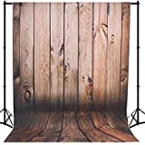 Mehofoto Seamless Vinyl Photo Backdrop Vintage Wood Photography Background Red Wood Backdrop 5×7ft