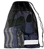 Mesh Draw String Equipment Bag with Shoulder Strap for Swimming, Snorkeling and Scuba Diving
