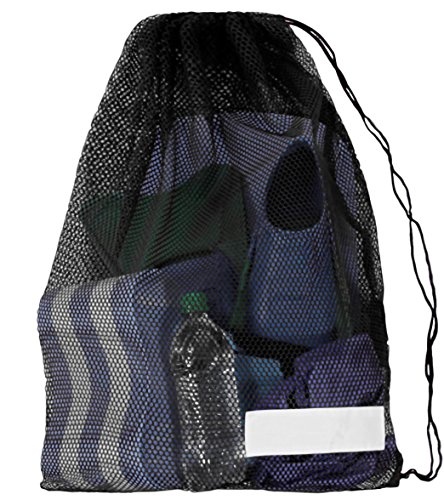 Swim Scuba (Mesh Draw String Equipment Bag with Shoulder Strap for Swimming, Snorkeling and Scuba Diving)