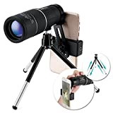 OUTERDO High Power Monocular Telescope, 16x52 Dual Focus BAK-7 Prism FMC Waterproof Monoculars Cellphone Adapter Durable Tripod Bird Watching, Hunting, Camping, Hiking, Outdoor, Surveillan