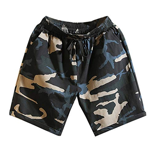 - VEZAD Mens Camo Pants Summer Swim Trunks Casual Athletic Beach Short Sweatpants