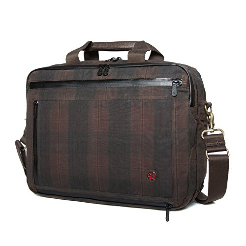 Token Plaid Montrose Canvas Bags Plaid Briefcase Waxed One Size 4qrPw14ax