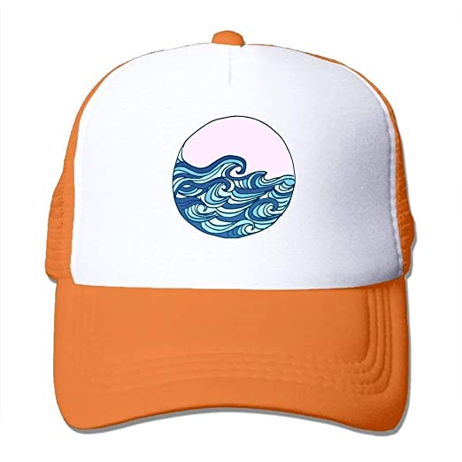 e9d0eaf4c Amazon.com: Ocean Waves Adjustable Snapback Baseball Cap Mesh ...