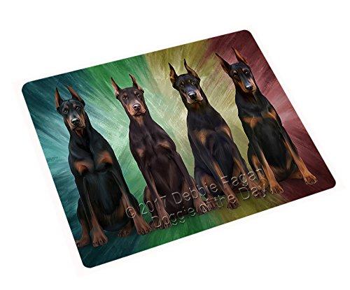 4 Doberman Pinschers Dog Magnet MAGA48702 (Mini 3.5