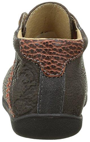 GBB Noe - Zapatos de primeros pasos Bebé-Niñas Gris - Gris (21 Vte Gris Dpf/Raiza)