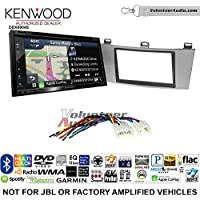 Volunteer Audio Kenwood Excelon DNX694S Double Din Radio Install Kit with GPS Navigation System Android Auto Apple CarPlay Fits 2004-2008 Non Amplified Toyota Solara (Silver)