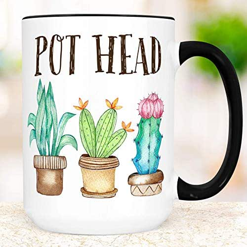 Amazon Com Funny Pot Head Plants Coffee Mug Succulent