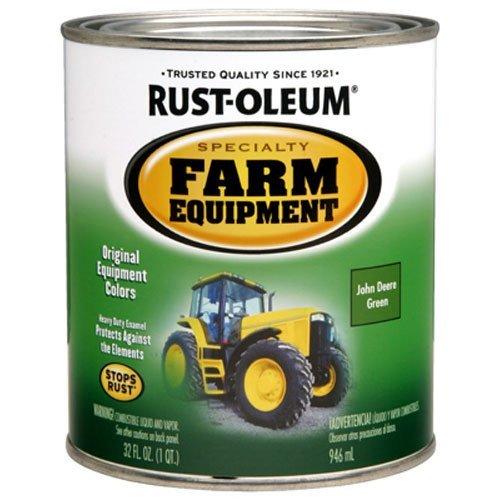 Rust-Oleum 7435502 Specialty Farm Equipment Brush On Paint, Quart, John Deere Green