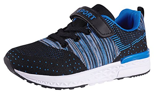 UKRIS Kids Casual Walking Shoes Lightweight Tennis Shoes Breathable Running Shoes Velcro Fashion Sneakers For Boys and Girls (EU 30, (Velcro Running Shoes)