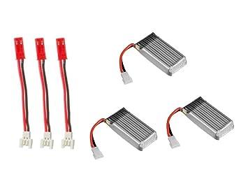 3X Li-Po Battery 3.7v 380mAh 25c Li-Po RC Part and 1S Molex ... on