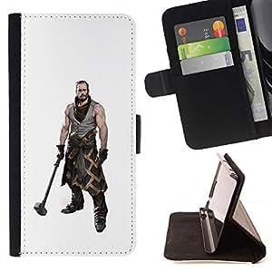 Momo Phone Case / Flip Funda de Cuero Case Cover - Músculos Guerrero con martillo hombre masculino Arte - Samsung Galaxy S6
