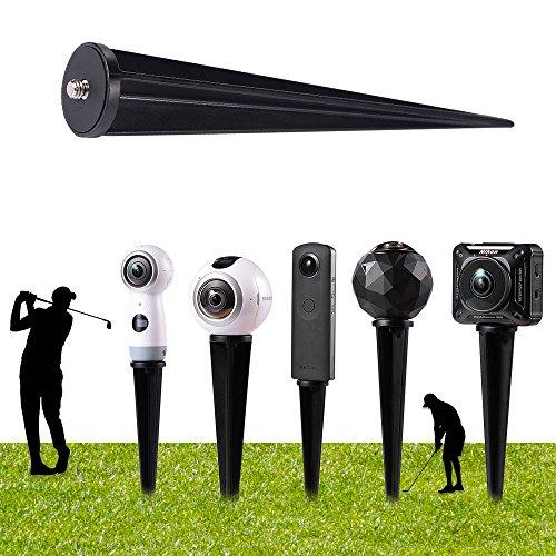 - HOLACA Spike Pole Mount Ground Stake for 360 Panoramic cam, for Samsung Gear 360,Gear 360 2017 Edition Cam,360fly 360° Cam,Ricoh Theta S SC M15,LG 360,Nikon Keymission 170/360&Garmin Virb 360 Cam