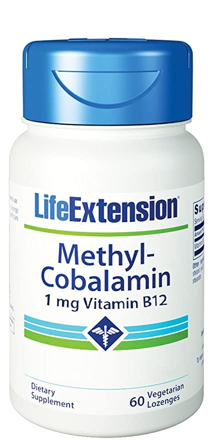 Metilcobalamina, 1 mg, 60 pastillas Veggie - Life Extension