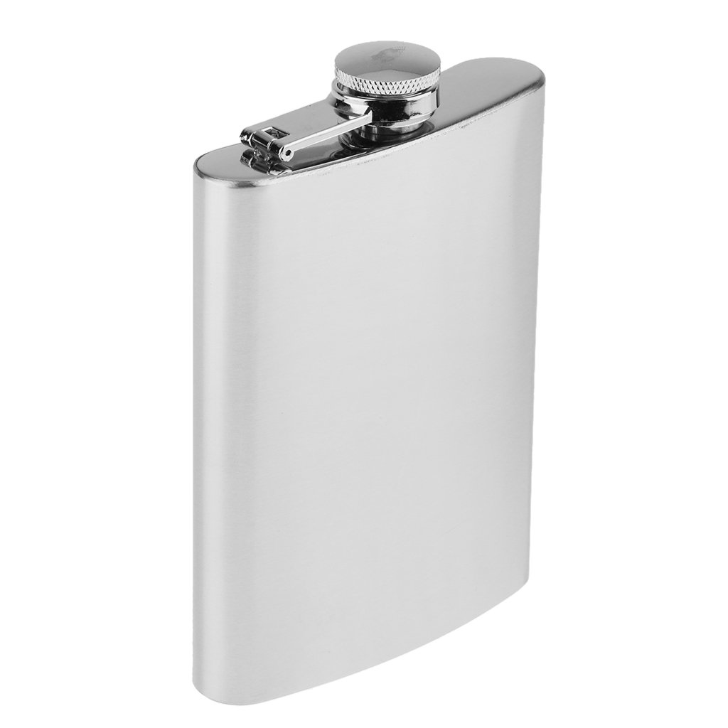 SunniMix Tragbare Mini Alkoholflasche Trinkflasche Flachmann Edelstahl K/örper Kupferkappe 1oz 28ml