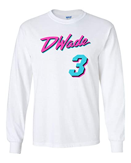d5299f767 PROSPECT SHIRTS Long Sleeve White Miami Wade Miami Vice T-Shirt at ...