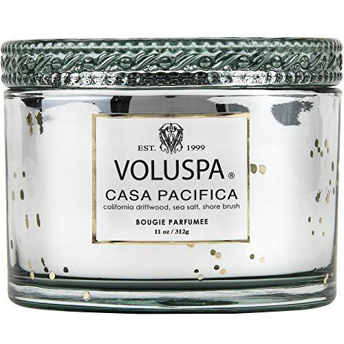 Voluspa Casa Pacifica Corta Maison Boxed Glass Candle, 11 Ounces (Casa Candle)
