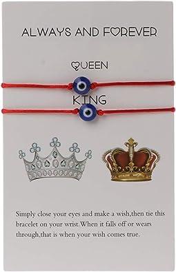 Make a Wish white butterfly evil eye protection charm bracelet