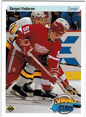 1990-91 Upper Deck Detroit Red Wings Team Set with Sergei Fedorov RC & 3 Steve Yzerman - 24 NHL Cards
