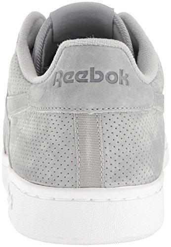 Reebok Mens Npc Uk Perf Fashion Sneaker Flat Grigio / Bianco