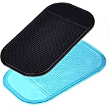 SAGUARO 2 Pcs Universal Anti Slip Adhesive Mat Magic Car Dashboard Sticky Gel Pad for Smartphones Cell Phones MP3 MP4 PDAs GPS and other Electronic Devices Random Color