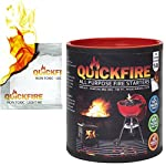 QUICKFIRE FireStarters Voted #1 Camping & Charcoal BBQ Fire Starter. Burns up to 10 Min at over 750° - 100% Waterproof, Odorless And Non-Toxic