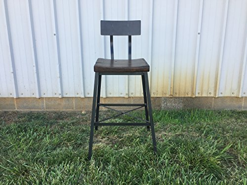 Saddle style chair with back rest - Free Shipping- HandMade-