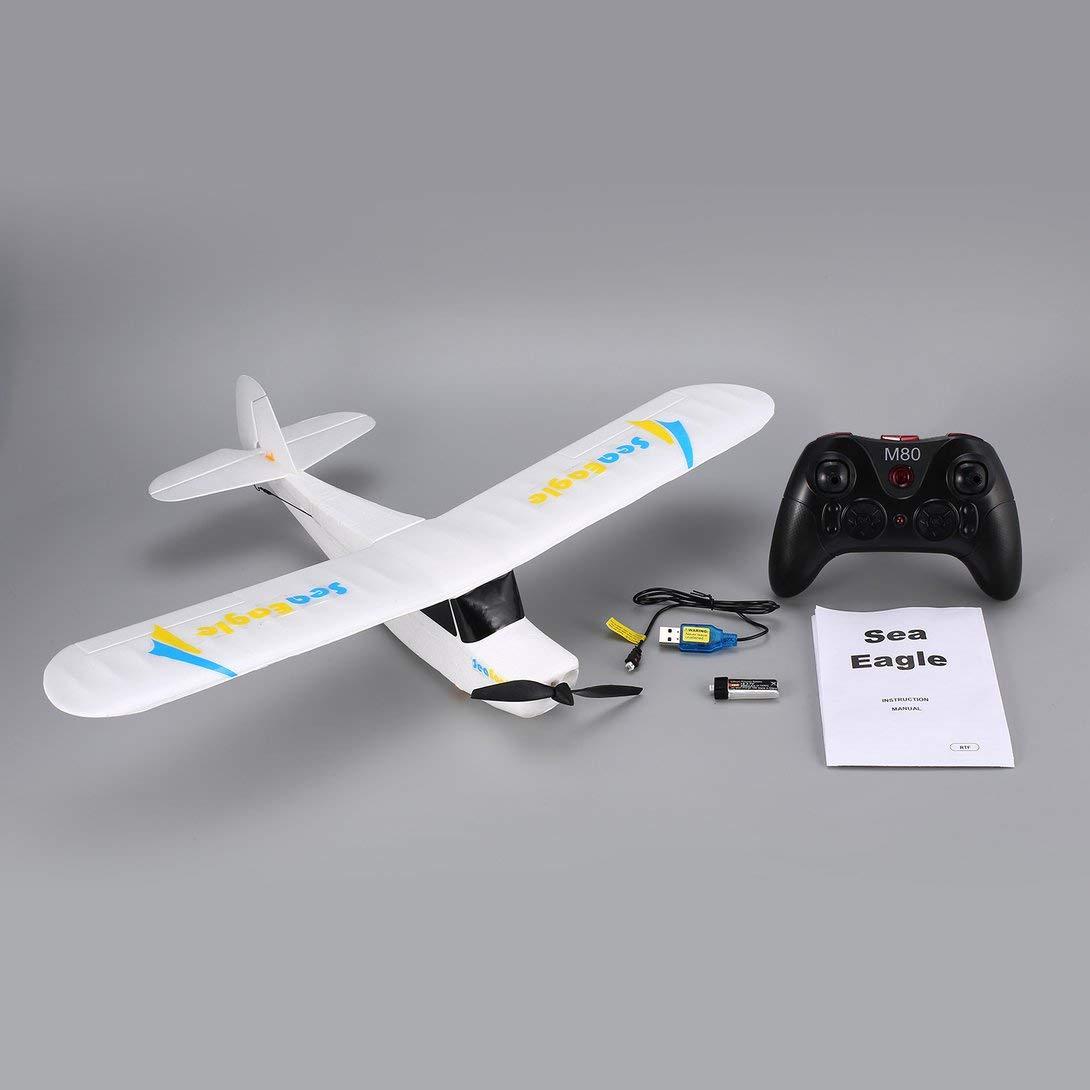 Swiftswan für Mirabrobot Seaeagle 2.4Ghz 3CH Mini 3/6-Achsen-Fernbedienung RC Flugzeug Fixed Wing Drone Flugzeug mit Spannweite 510mm RTF Weiß