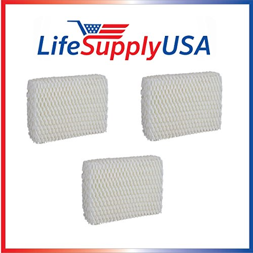 LifeSupplyUSA 3 Pack Humidifier Filter Compatible with Sears Kenmore Humidifier 14803 14804 Wick Filter. Compatible with Sears Kenmore Models 14804, 14103, 14104, 14113, 14114, 14121 and 14122 (Humidifier Filters Kenmore 14114)