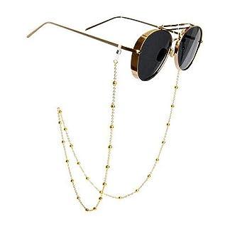 Gafas de sol de acero inoxidable con cadena para gafas, correa para el cuello, cuerda para sujetar las gafas, para mujeres, 78 cm