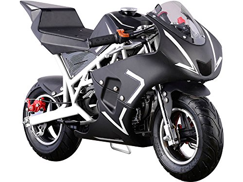 USA Big Toys Cali 40cc Gas Pocket Bike in White ()