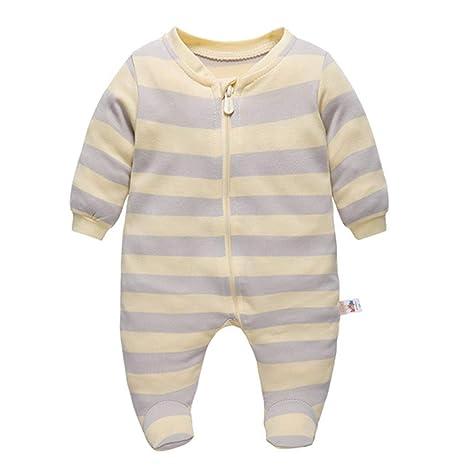 Recién nacido Pijama Niños Pelele Manga Larga Algodón Mameluco Trajes 0-3 Meses