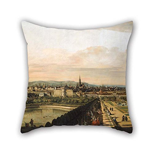 Cushion Cases Of Oil Painting Bernardo Bellotto, Called Canaletto - Vienna Viewed From The Belvedere Palace 18 X 18 Inches / 45 By 45 Cm Best Fit For Teens Girls Chair Adults Sofa Divan Christmas (Chair Kids Vienna)