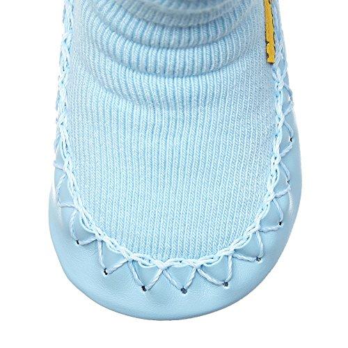 """MOCCIS - Zapatos primeros pasos de algodón para niño azul azul M (Length:40.5""""/103cm)"""